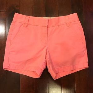 "J.Crew Broken-in Chino Pink Faded 5"" Inseam Shorts"